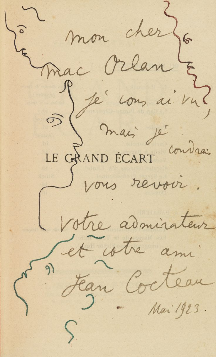 Jean Cocteau, 1923