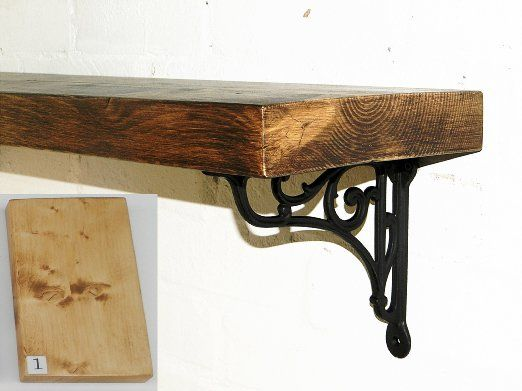 Reclaimed Wood And Metal Wall Shelves: RusticWoodenCrafts Reclaimed Rustic Wood Mantel Floating