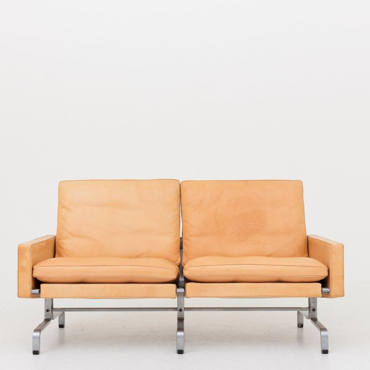 PK 31/2 - 2 seater sofa in natural leather