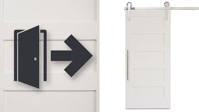 Converting A Hinged Door To A Sliding Door In 5 Easy Steps Diy Sliding Door Diy Sliding Barn Door Interior Barn Doors