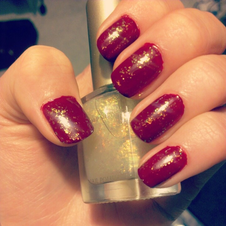 Champneys cherry and opal nail polish for winter, new favourite of mine!
