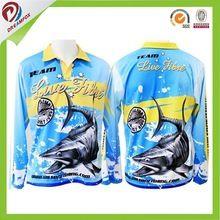 [Outdoor Sports] OEM dry fit anti uv sublimated sportswear fishing shirts, wholesale custom tournament fishing jerseys