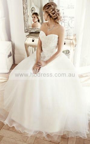 Princess Sleeveless Sweetheart Lace-up Floor-length Wedding Dresses fdaf1023