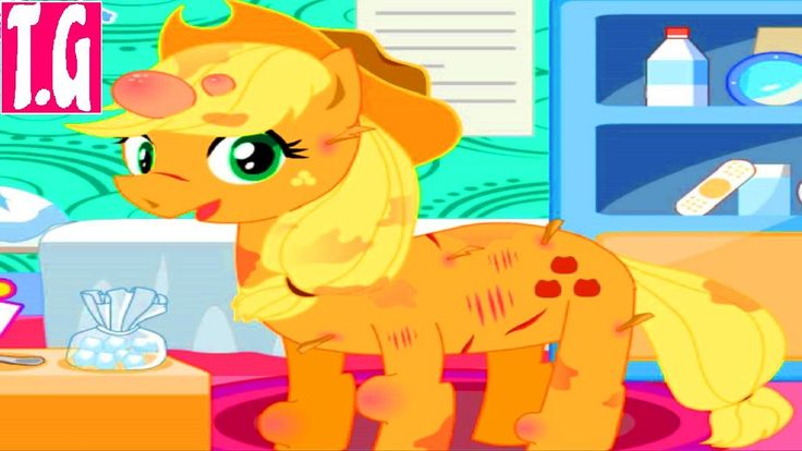 Apple jack pony feet doctor— GAMES FOR KIDS.  HD 1080p