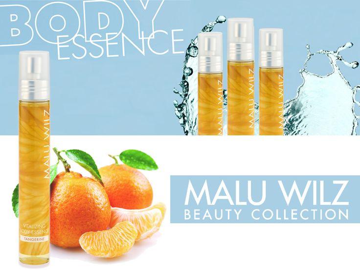 Malu Wilz relaxáló, aroma testpermet növényi kivonatokkal, mandarin illattal. Ideális választás a felfrissüléshez a forró nyári napokon. Kakukkfű és pillangó bokor kivonattal.