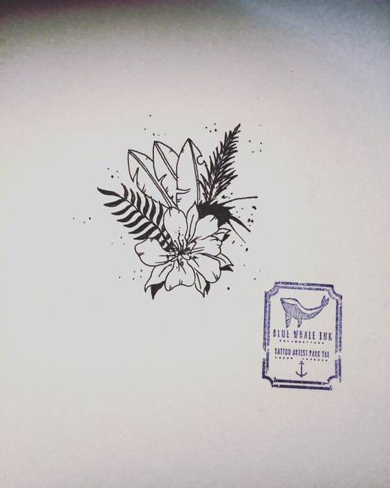 ... seoul flower tattoos blue phones tropical flower tattoos korea whales