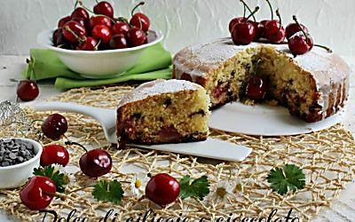 dolce facile di ciliegie e cioccolato ricetta torta di stagione