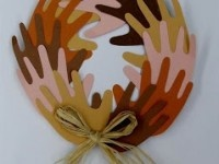 Martin Luther King Jr Day and Black History Month Peace Wreath Craft for Kids
