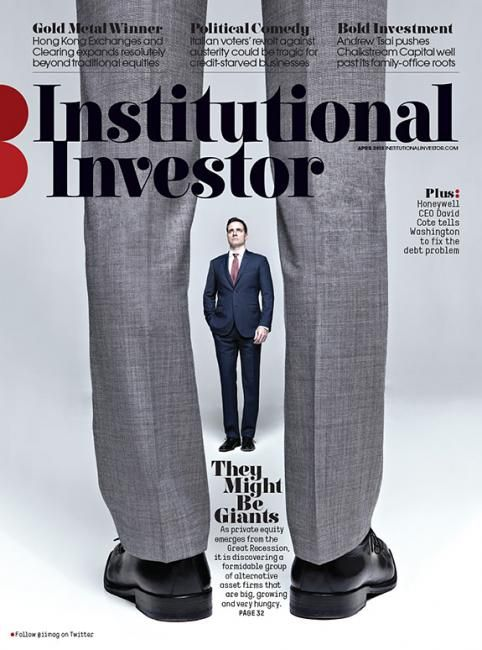 "Institutional Investor (US) ""They Might Be Giants"" aka legs cover #conceptualdesign #bodoni-style-text"