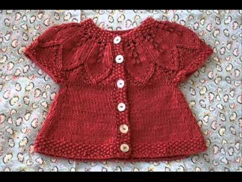 Hand-Knitted Crochet BABY SWEATER-Cardigan-Sweater Made EASY