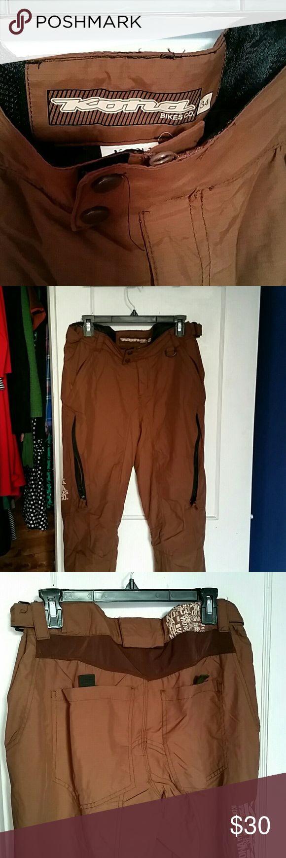 Kona Bikes Mountain Biking Pants. Men's brown mountain biking cargo pants. Look barely used. Kona Bikes Co. Pants Cargo