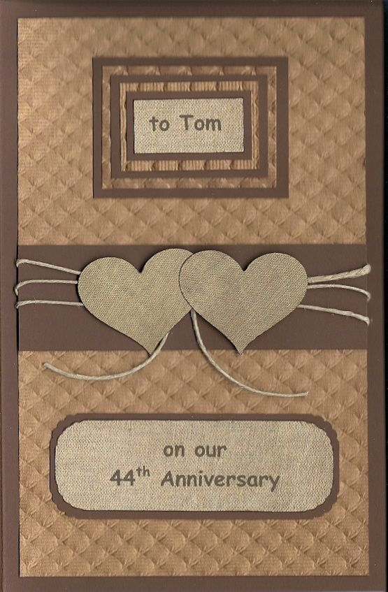 Made this anniversary card for my husband (made by Bonnie Henricks 2015)