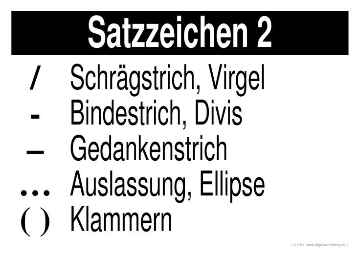 Satzzeichen 2