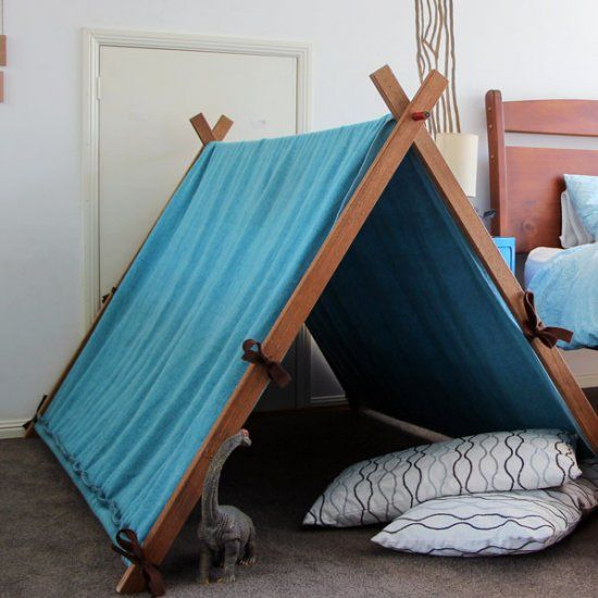 This gorgeous upcycled play tent is made with recycled household materials. You'll be surprised how easy it is and how little it cost. Enjoy!