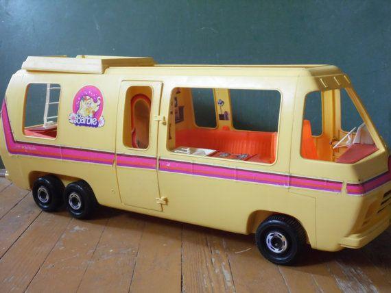 1976 Barbie Camper/Barbie RV/Vintage Barbie Camper/Mattel Toys/Barbie Motorhome/GMC/Barbie House $145