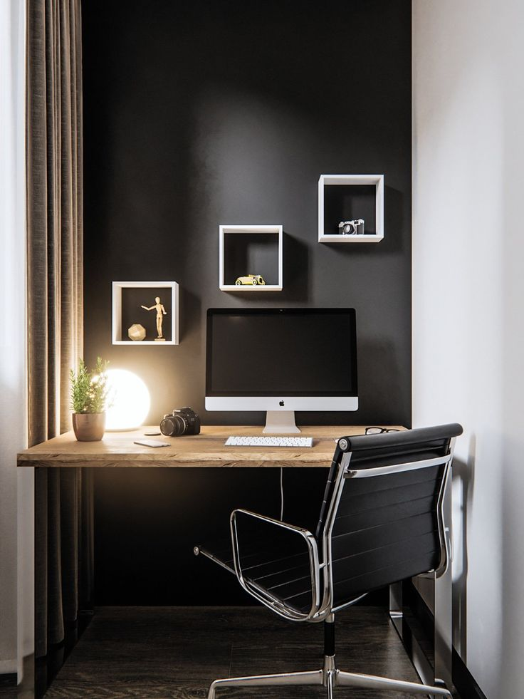 899 best images about home office designs on pinterest for Studio apartment office