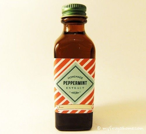 Extrait de menthe poivrée Want to make peppermint extract without the alcohol? Just substitute the vodka with three parts food-grade liquid glycerin and one part water