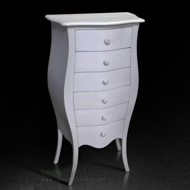 Lemari Laci Putih   Indo Furniture