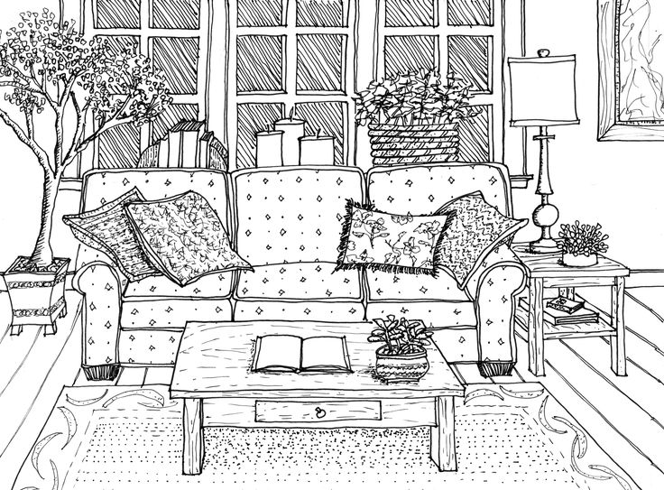 interior line drawing