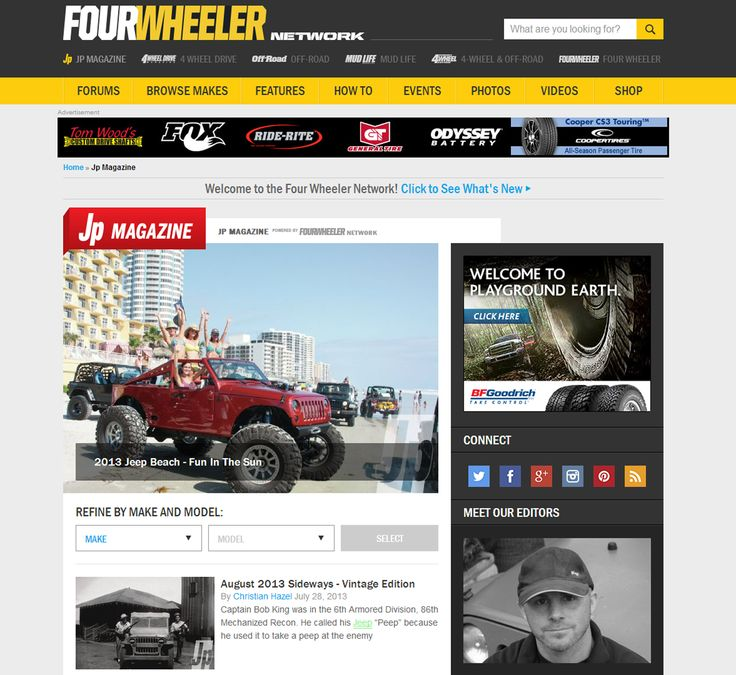 REPIN!!! We'd like to present to you the all-new Four Wheeler Network! SEE IT HERE: http://www.fourwheeler.com/jp-magazine/ #Jeeps #Jeep #Jeeping #Jeepers