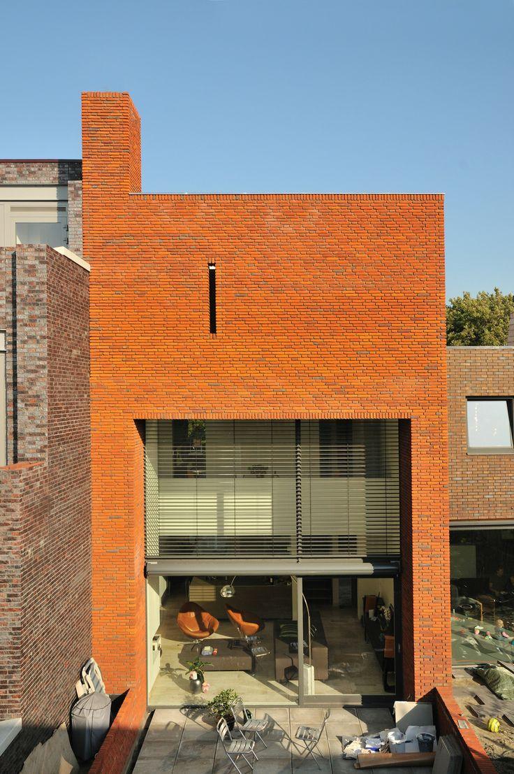 Leiden wijk Nieuw Leyden, achtergevel Gebouwen