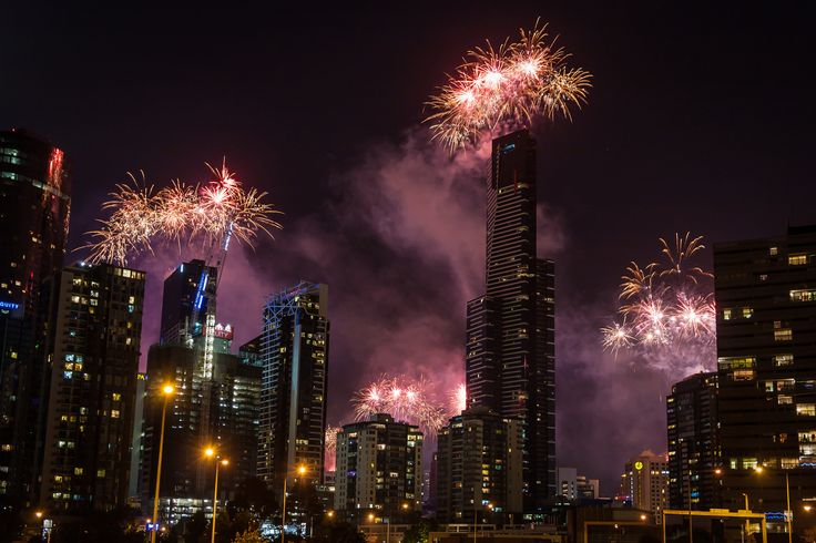 Melbourne 2015 New Year Fireworks