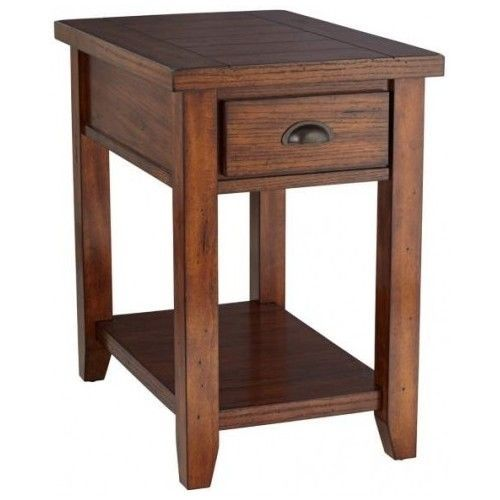 Mission Style End Table Sofa Side Tables Nightstand Wood Furniture  Traditional