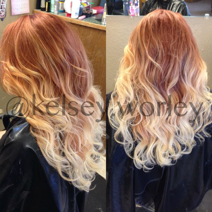 Beautiful Strawberry Blonde Balayage Kelsey Worley