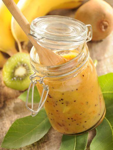 Confiture bananes kiwis : Recette de Confiture bananes kiwis - Marmiton