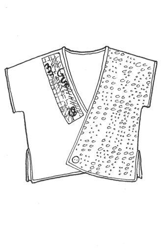 Juxta Wrap Patched : Blue Fish Clothingo