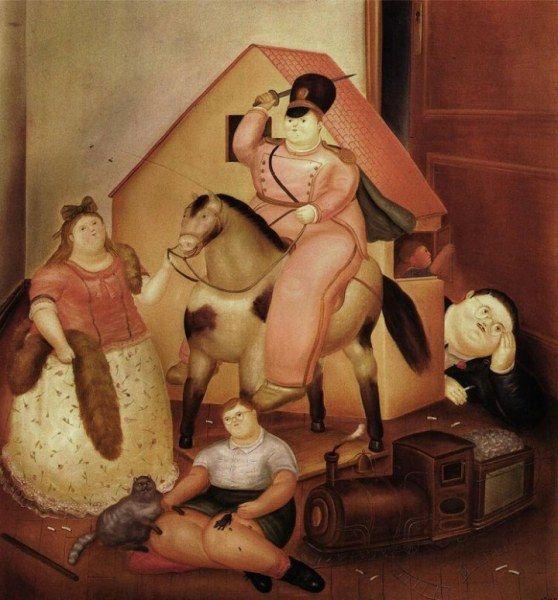 Пышные формы от Фернандо Ботеро (10 картин)