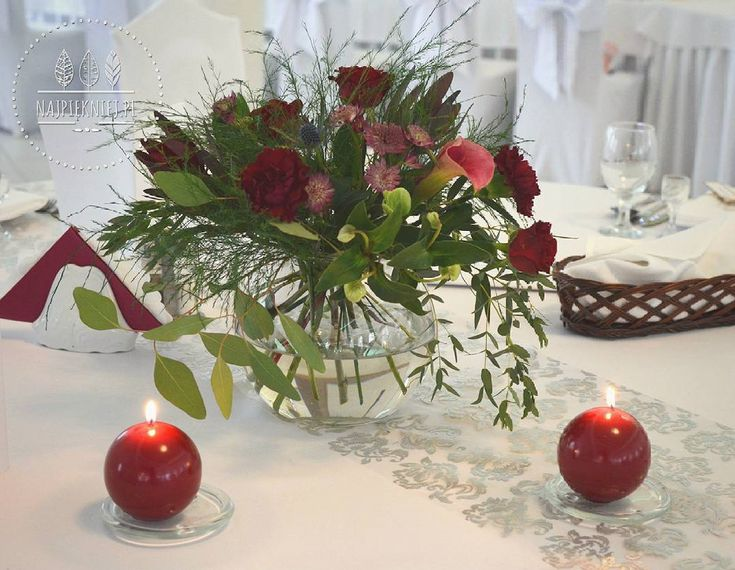 Dekoracja stołów dla gości w barwach jesieni 😍  #wedding  #wesele #slub #bouquet #bukiet #dekoracje #autumn #jesień #marsala #rubin #green #love #nature #inspiration #september #decoration #nature #withlove  #flowers  #kwiaty #instagood #beauty #photoftheday #followme #ilovemywork