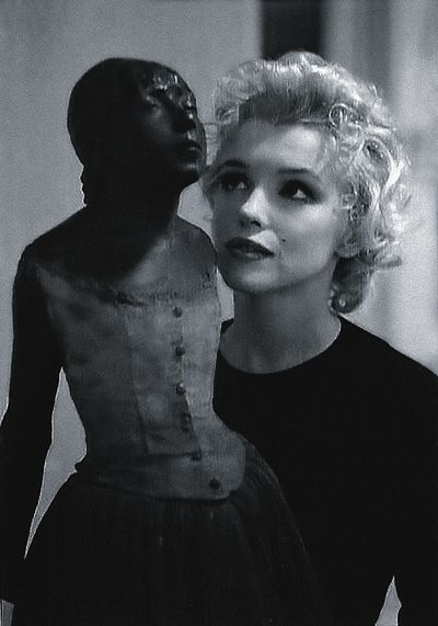 Marilyn Monroe and Little Dancer of Fourteen Years - Edgar Degas (via:  cultura.elpais.com)  June 1, 1926 – August 5, 1962
