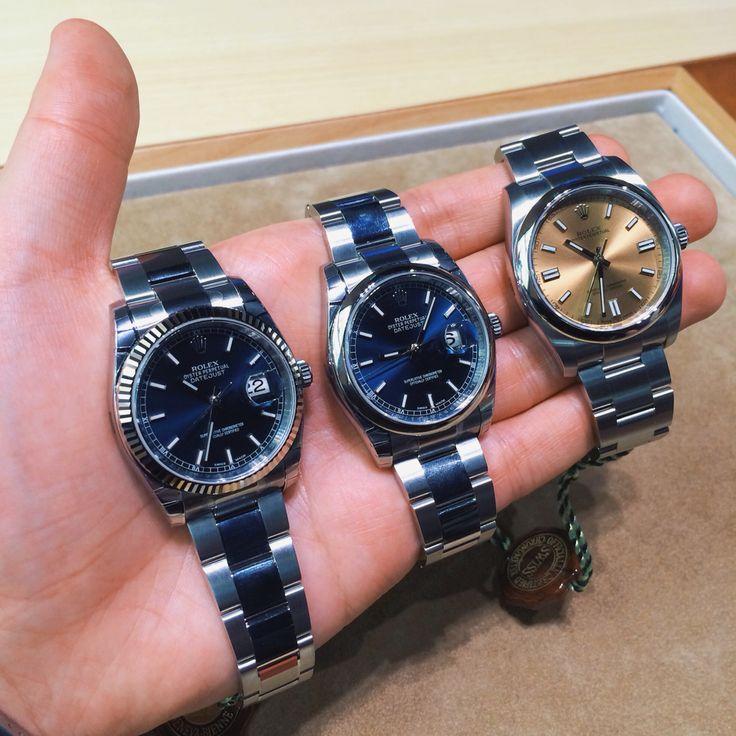 Rolex: 116234, 116200 & 116000