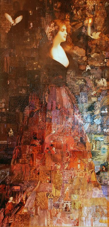 """Saatchi Art Artist: Tricia Newell; Decoupage Collage """"The Ghost of Kirstie McBride"""""""