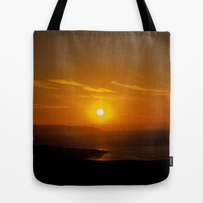 Beyond the sun Tote Bag by Oscar Tello Muñoz - $22.00