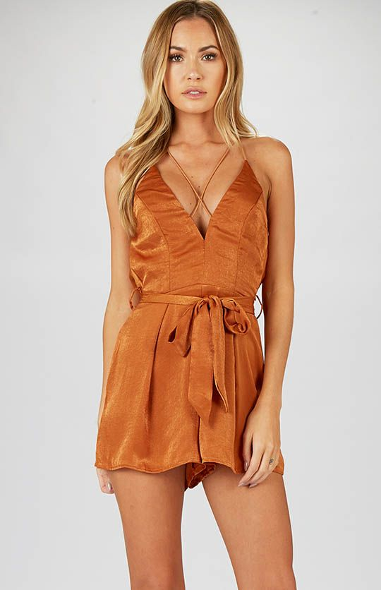 Summer Days Playsuit - Brown | Clothes | Peppermayo $60