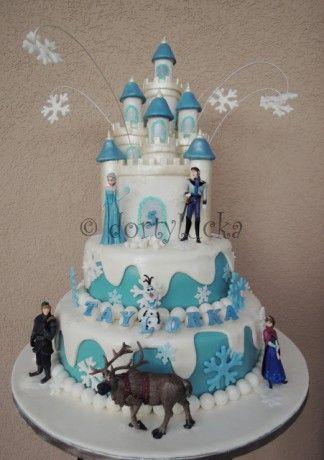 Dětské dorty - Fotoalbum - dětské dorty - dort Disney ledové království 1 (Disney Frozen cake 1) - 0166