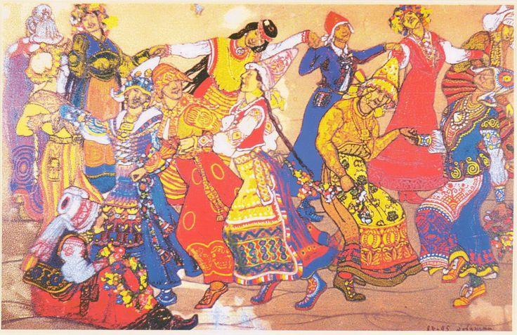 Н.К.Рерих. Хоровод (Пляска девушек). 1912