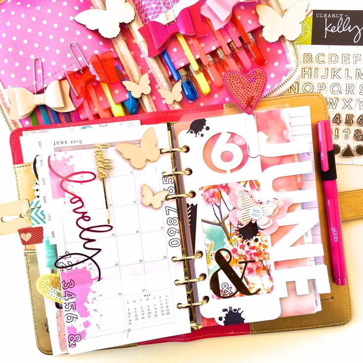 Dedra Long June Planner Dashboard Layout - Scrapbook.com