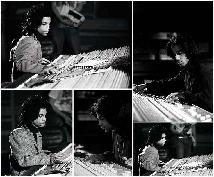 Prince | I don't know where he is. Some of the pics say Paisley Park studio, 1988. Others say, Prince at work behind the mixing console in Olympic Studios, London, England.