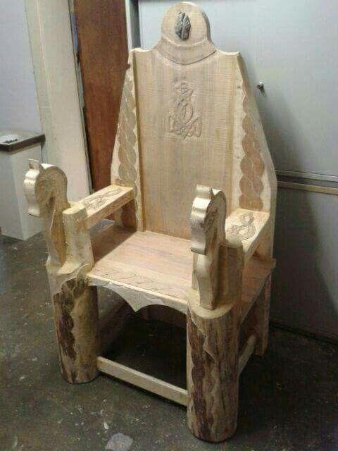 wikinger thron holz pinterest. Black Bedroom Furniture Sets. Home Design Ideas