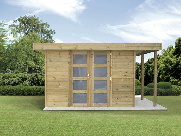 Modern tuinhuis met oversteek abri moderne avec b cher tuinhuizen abris de jardin - Deco tuinhuis ...