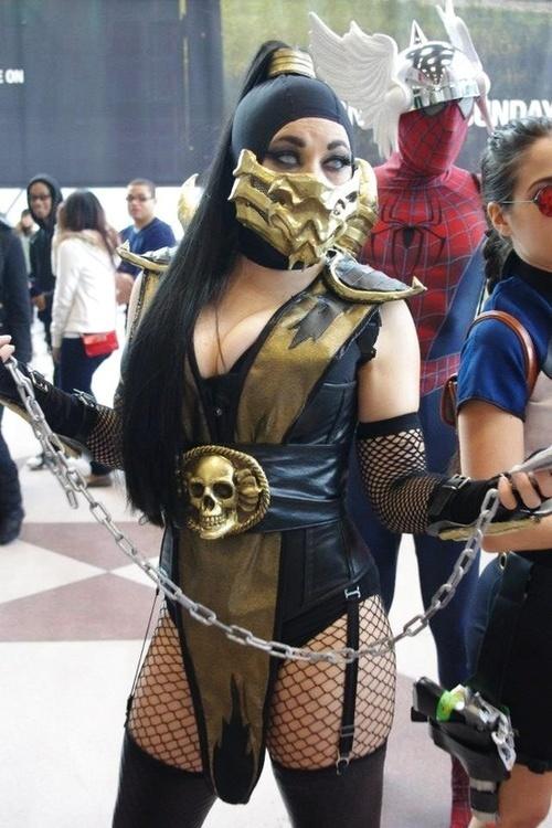 lady scorpion mortal kombat cosplay by bethany maddock halloween cosplaycosplay costumeshalloween - Mortal Kombat Smoke Halloween Costume
