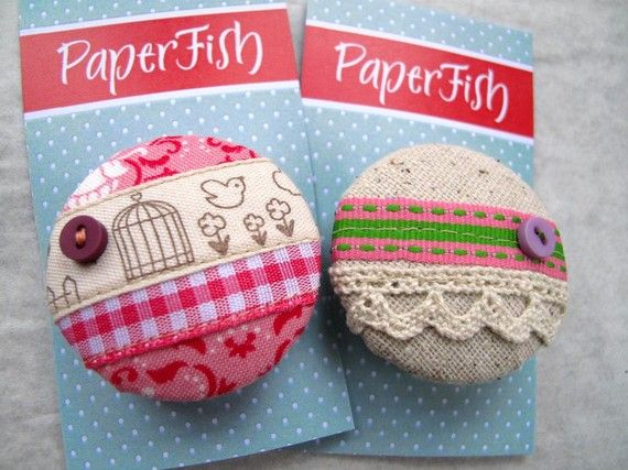 button brooches