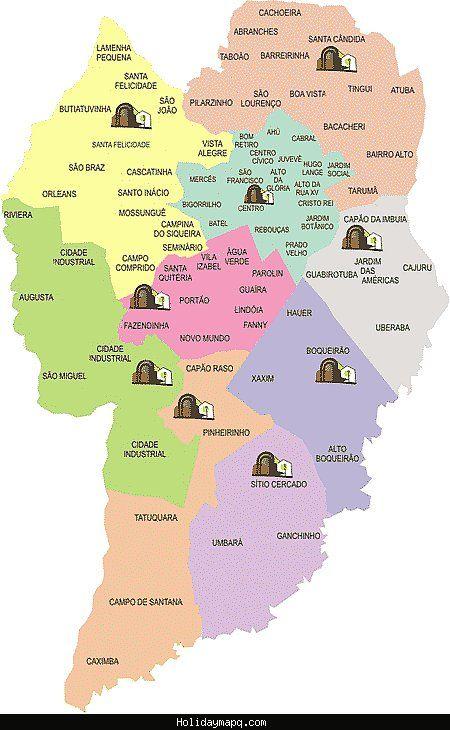 Curitiba Map - http://holidaymapq.com/curitiba-map.html