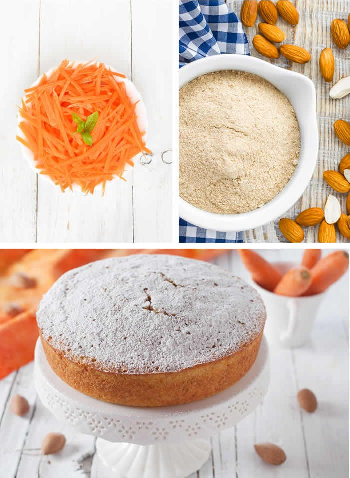 Torta di carote con farina di mandorle gluten free!