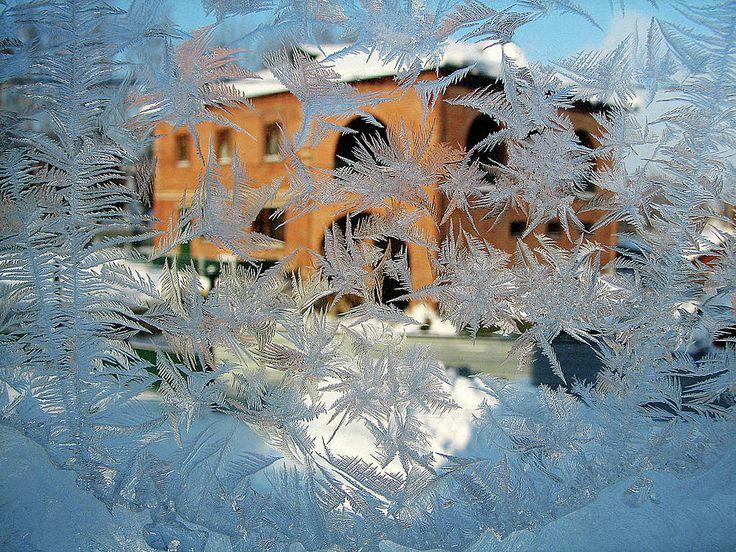 Frost Patterns On Window 3 by Victor Kovchin