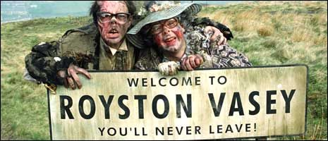 "Royston Vasey sign, ""The League of Gentlemen"" TV series"