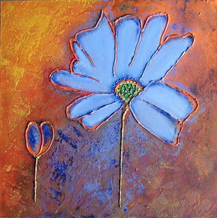 17 beste idee n over blauw schilderij op pinterest abstracte schilderijen abstracte kunst en - Schilderij kooi d trap ...